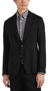 Officine Generale Men's Unstructured Twill Two-Button Sportcoat - Black
