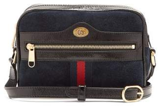 Gucci Ophidia Mini Suede Cross Body Bag - Womens - Navy