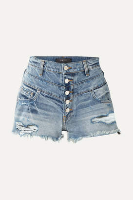 Amiri Distressed Denim Shorts - Blue