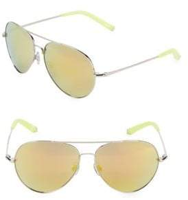Linda Farrow Luxe Matthew Williamson x Linda Farrow Mirrored 61MM Aviator Sunglasses