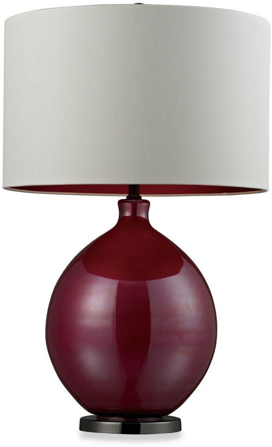 Bed Bath & Beyond Table Lamp in Pink and Black Nickel