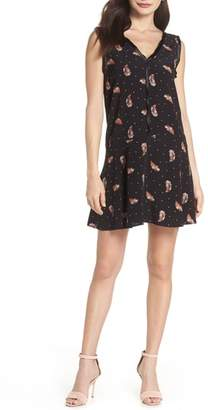 Knot Sisters Tuesday Feather Print Dress