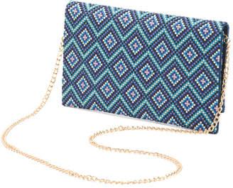 Austin Diamond Pattern Bead Clutch
