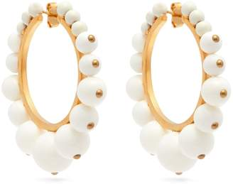 Aurelie Bidermann Ana bead-embellished hoop earrings