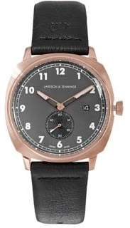 Larsson & Jennings Meridian Black Leather 38mm Watch