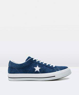 Converse One Star Suede Navy White Shoe