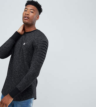 Le Breve TALL Crew Neck Sweater with Arm Ribbed