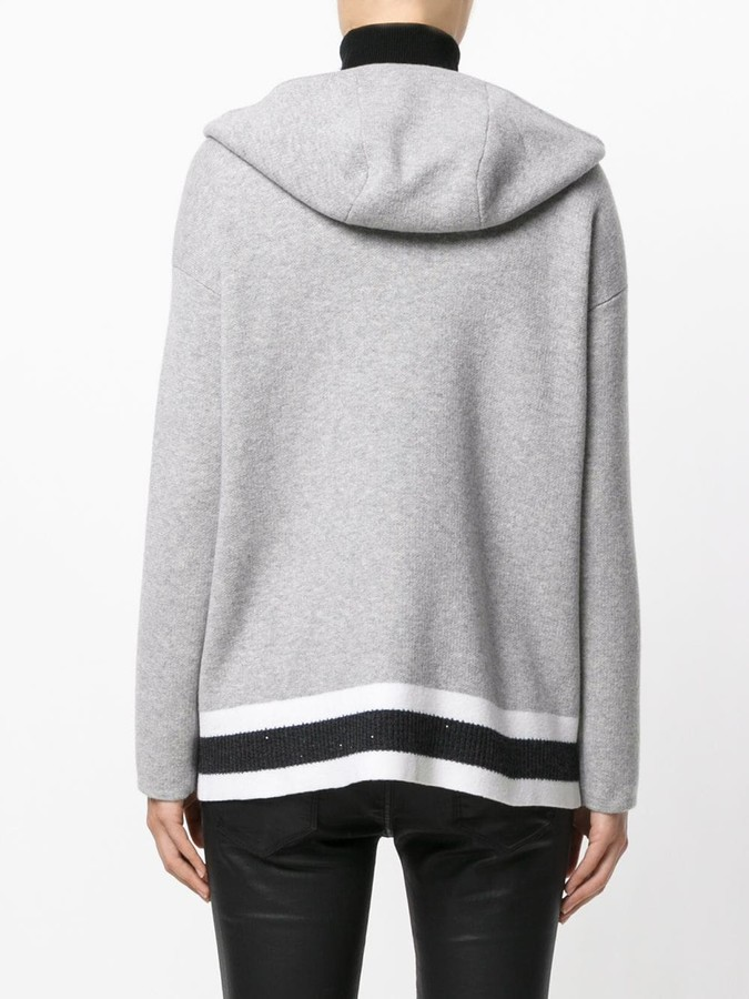 Lorena Antoniazzi hooded zip cardigan