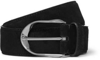 Ermenegildo Zegna 3.5cm Black Suede Belt - Black