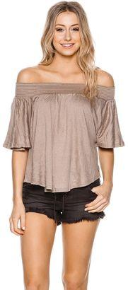 O'neill Sahara Off Shoulder Top $45.95 thestylecure.com