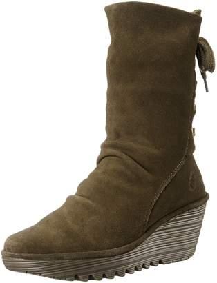 Fly London Women's Yada Wedge Heeled Calf Boots UK8 - EU41 - US10 - AU9