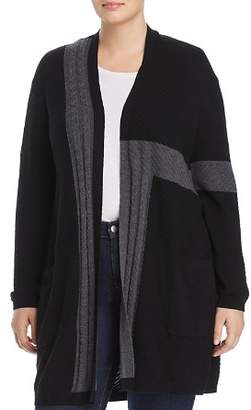 Vince Camuto Plus Ribbed Color Block Cardigan