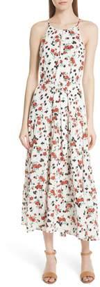 A.L.C. Richards Floral Print Silk Dress