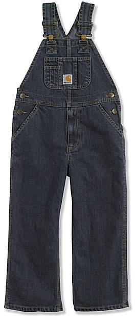 Worn-In Blue Denim Bib Overalls - Infant & Boys