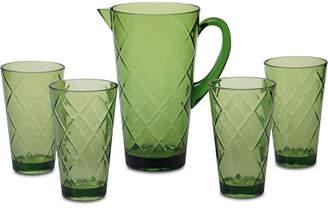 Certified International Green Diamond Acrylic 5-Pc. Drinkware Set
