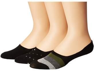 Steve Madden 3-Pack Shoe Liners - Stripes Men's Crew Cut Socks Shoes