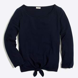 J.Crew Factory Boatneck tie-front sweater
