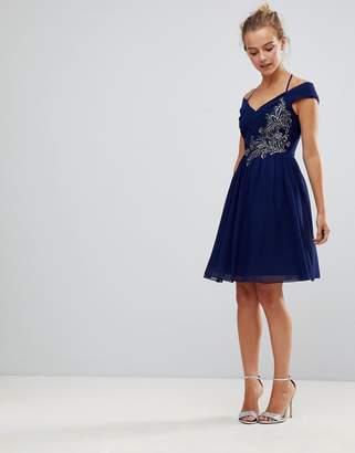 Little Mistress Prom Dress With Embellished Detail