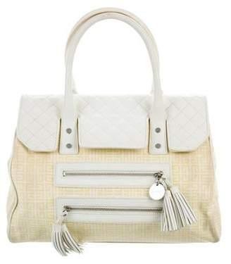 Givenchy Leather-Trim Canvas Handle Bag