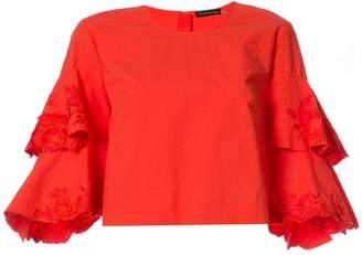 Josie Natori tiered sleeve top