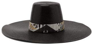 Missoni Mare - Banded Wide Brim Hat - Womens - Black