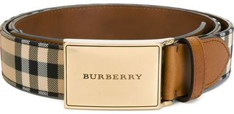 Burberry Horseferry Check belt $220.53 thestylecure.com
