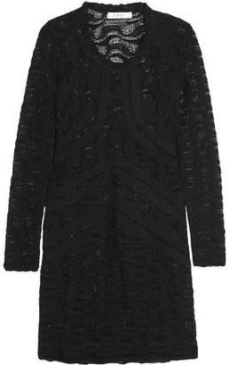 IRO Joos Pointelle-Knit Cotton-Blend Mini Dress