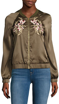 Design Lab Lord & Taylor Embroidered Bomber Jacket $88 thestylecure.com