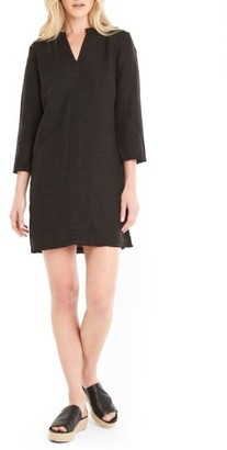 Women's Michael Stars Raw Edge Linen Shift Dress $158 thestylecure.com