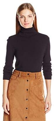 Jones New York Women's Long Sleeve Fitted Turtle Neck Top $59.50 thestylecure.com