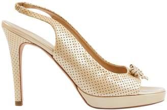 Chanel Slingback Beige Patent leather Heels