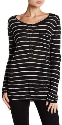 Splendid Stripe Henley Top