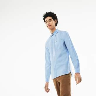 Lacoste Men's Slim Fit Check Cotton Poplin Shirt