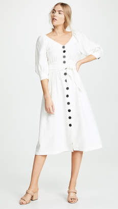 Moon River White Midi Dress