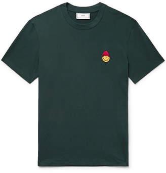 + The Smiley Company Appliquéd Cotton-Jersey T-Shirt