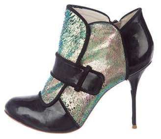 Sophia Webster Patent Leather Ankle Boots Black Patent Leather Ankle Boots