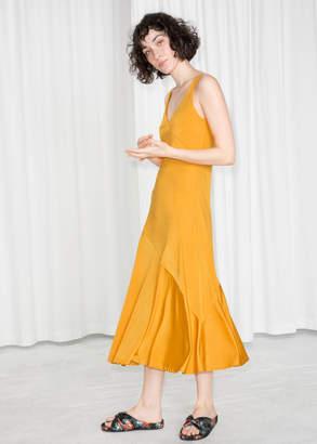 And other stories Asymmetrical Flowy Midi Dress