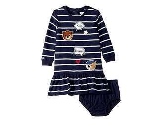 Ralph Lauren Striped Patch Dress (Infant)