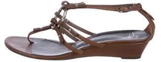 Giuseppe Zanotti Leather Wedge Sandals