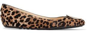 Jimmy Choo Wray Leopard-Print Calf Hair Ballet Flats