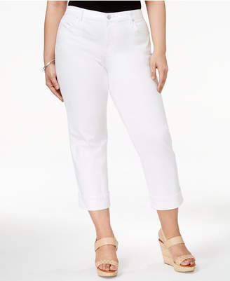 7d0e7bdeba9 Style   Co Plus Size Curvy Cuffed Capri Jeans