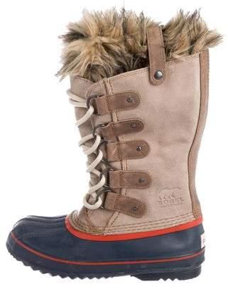 Sorel Round-Toe Suede Boots