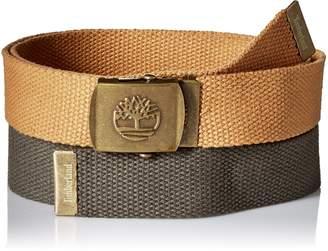 Timberland Men's Web Belt 2 Pack