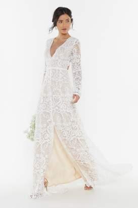 Nasty Gal Bride It Out Bridal Crochet Dress