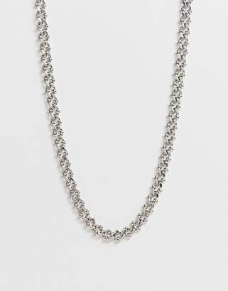 Design DESIGN textured metal lariat chain necklace in silver tone