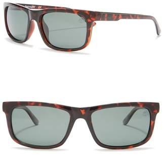Timberland Polarized 56mm Retro Sunglasses