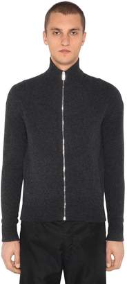 Prada Zip-Up Wool & Cashmere Cardigan