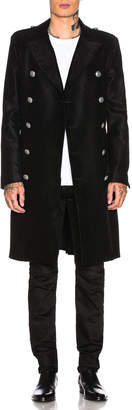 Balmain Cross Long Coat