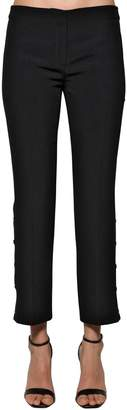 N°21 Side Snap Button Twill Pants