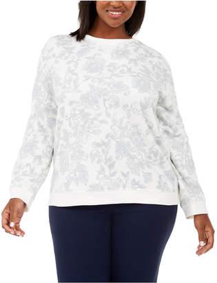 Karen Scott Plus Size Printed Sweatshirt